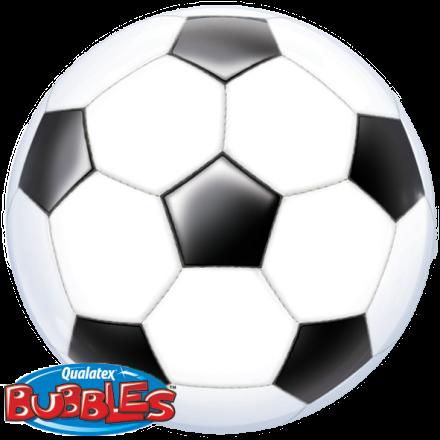 Bubble Ballon Fussball O 56 Cm Qualatex